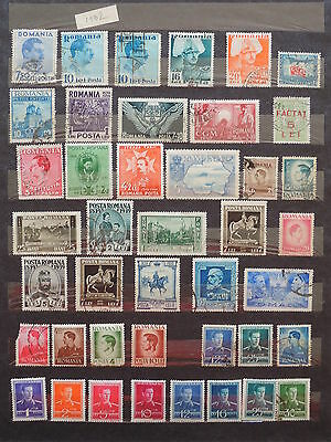YS-L889 ROMANIA - Lot, Old Stamps USED