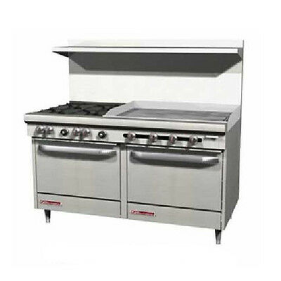 """Southbend S60DD-3TR 60"""" Gas Range w/ (4) Burners 36"""" Thermostatic Griddle"""