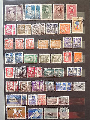 YS-L895 ROMANIA - Lot, Definitives Stamps USED