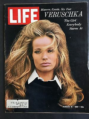 Life Magazine  August 18 1967   Model Veruschka