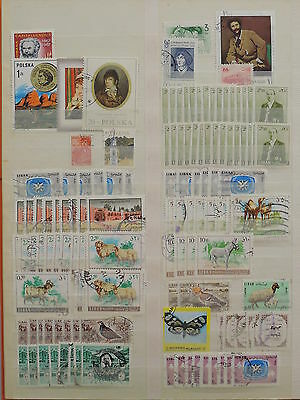 YS-M007 WORLDWIDE - Lot, Great Stamps, Poland, Lebanon, Romania USED