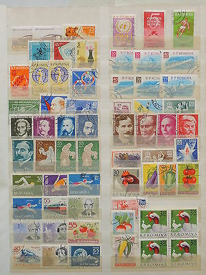 YS-M118 ROMANIA - Sports, Lot Of Great Stamps.. Fruits, Farm Animals USED