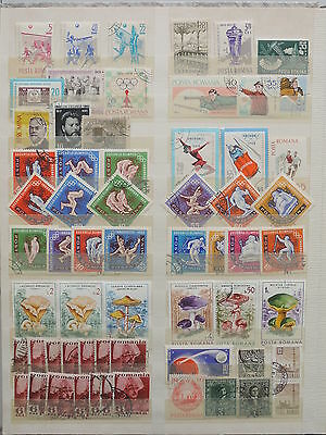 YS-M119 ROMANIA - Olympic Games, Lot Of Great Stamps.. Mushrooms, Space USED