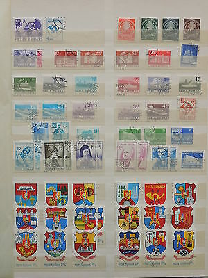 YS-M124 ROMANIA - Coats Of Arms, Lot Of Great Stamps USED