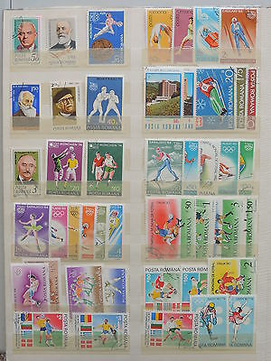 YS-M125 ROMANIA - Olympic Games, Lot Of Great Stamps.. Football USED