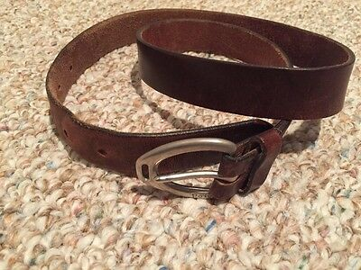 GENUINE POLO RALPH LAUREN BROWN LEATHER CASUAL BELT VINTAGE Size 34