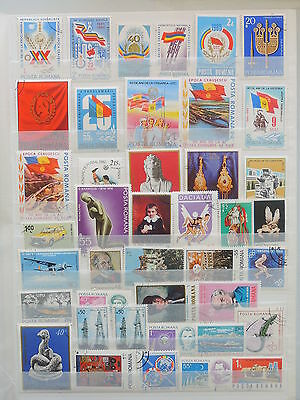YS-M129 ROMANIA - Paintings, Lot Of Great Stamps USED