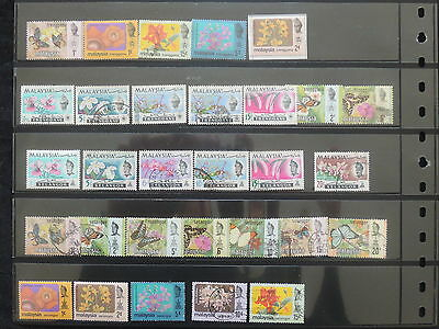YS-M145 MALAYSIA - Flowers, Lot Of Great Stamps USED