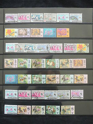 YS-M148 MALAYSIA - Butterflies, Lot Of Great Stamps USED