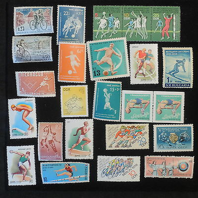 YS-M206 SPORTS - Nicaragua, Germany/Ddr,Russia, Sweden, Bulgaria MNH