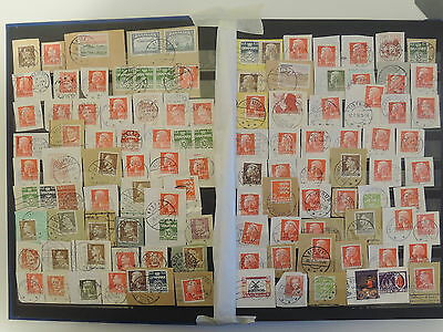 YS-M308 DENMARK - Lot, Old Stamps.. Cut Out, Pieces USED