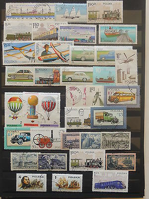YS-M385 POLAND - Transportation, Lot Of Great Stamps USED