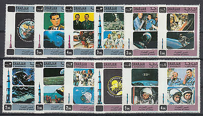 YS-M563 SHARJAH - Space, Great Stamps, History Of Space MNH