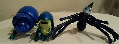 Disney~Dim (Beetle)~Tuck (Louse)~Rosie (Spider) Bugs Life Action Figures~Lot
