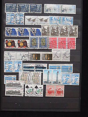 YS-M661 DENMARK - Lot, Old Stamps, Strip USED