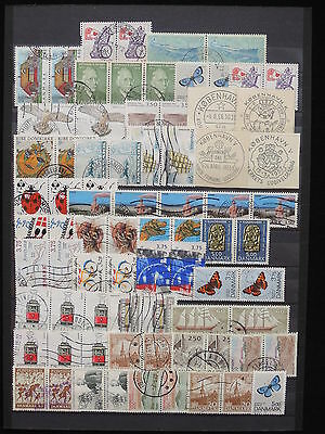YS-M662 DENMARK - Lot, Old Stamps, Trains, Butterflies, Strip USED