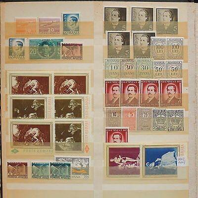 YS-M703 ROMANIA - Lot, Paintings, Definitives, Great Stamps MH/MNH