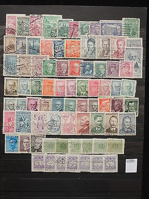 YS-M736 CZECHOSLOVAKIA - Lot, Definitives, Old Stamps USED