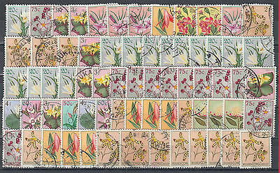 YS-M931 BELGIAN CONGO - Flowers, Fine Lot Of Stamps Used