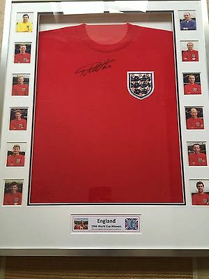 Geoff Hurst England 1966 World Cup Winners Signed Shirt Framed With COA