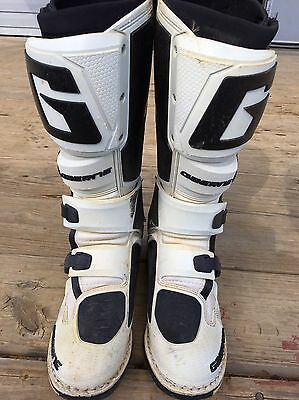 Gaerne SG 12 Boots, Size 8, Color White, Black