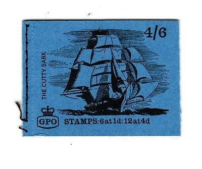 """GB 1968 LP46 4/6 Ships Series """"Cutty Sark""""  Stitched Stamp Booklet (JULY 1968)"""