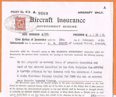 Great Britain 1916 Aircraft Insurance