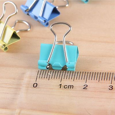 Clip Colorful Office Stationery Binder Clips Document Clips Paper Holder