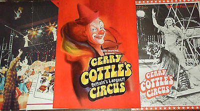 3 Gerry Cottle Circus Programmes