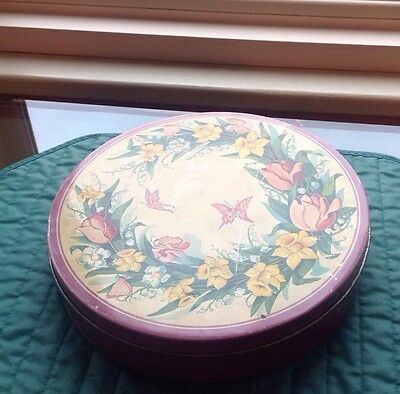 """MRS. SOTHERN Filled  Tin, NY, 3 LB, 10"""" Diameter, Collectible Sewing Notions/Tin"""