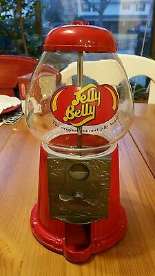 Jelly Belly Candy Dispenser Vintage Diecast Glass Top Machine Gumball