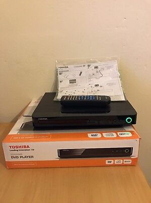 Toshiba SD1020KB Mini Dvd Player With Box Instructions Remote Working VGC