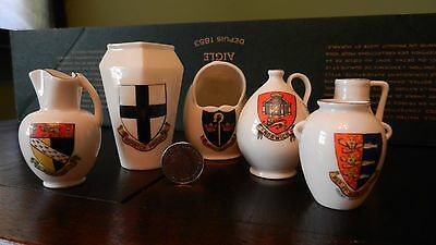 GOSS CHINA x 5 NORFOLK CRESTS see scan