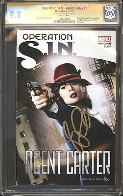 Operation: SIN Agent Carter TPB Photo Cover CGC 9.8 SS Signed Hayley Atwell TV