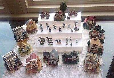 Lot of  Vintage Liberty Falls Etc.  Collection - Houses Buildings & Accessories