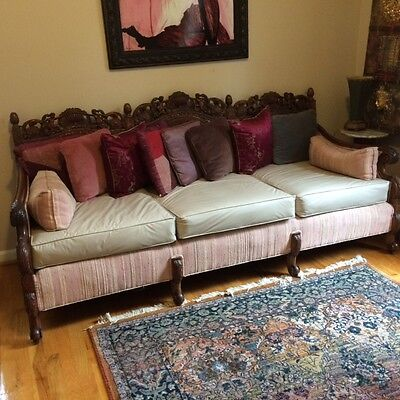 Antique Carved couch, Sofa