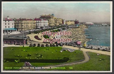 SUSSEX REAL PHOTO POSTCARD - Grand Parade from the Wish Tower, Eastbourne 7252