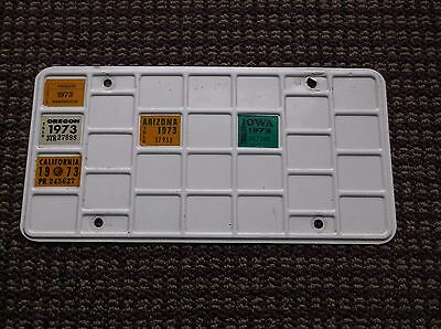 Calfornia  Etc. 1973 PRORATE APPORTIONED TRUCKING WAFFLE BINGO License Plate!