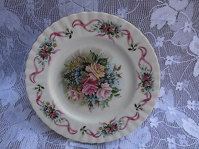 "Royal Albert ""HAPPY BIRTHDAY "" plate with pink roses"