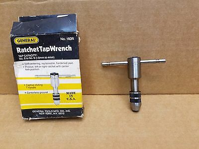 New General Tools 160R Reversible Tap Wrench for Number 0 to Number 8 Taps