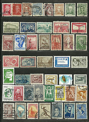 ARGENTINA Amazing Collection Miscellaneous Very Fine & Fine Used Stamps Set# 3