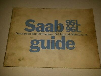 Saab 95L 96L guide owners manual