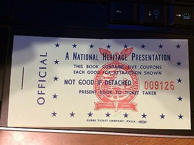 1950-60s era GETTYSBURG museum tickets, from HALL OF PRESIDENTS museum auction