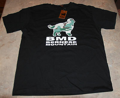 Bernese Mountain Dog T-shirt - Black / Camo / Camouflage - XL - BMD - NWT-Berner