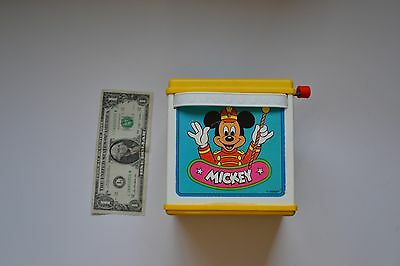 1987 Mattel Disney Musical Mickey Mouse In The Box Jack In The Box