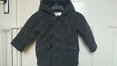 boys grey duffle coat 12 to 28 months