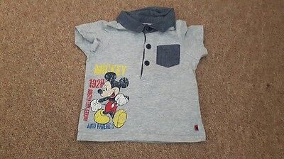 Baby boy Disney mickey mouse polo shirt 12-18 months