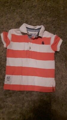 Baby boys Next casual shirt pink and white 12-18 months