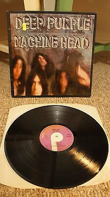 Deep Purple ‎– Machine Head LP UK FIRST PRESSING Purple Records TPSA 7504 Vinyl