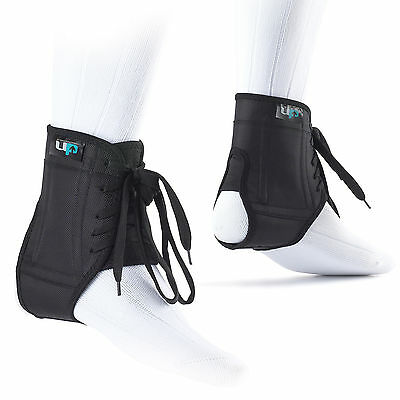 UP Football Rugby Specific Boot Deluxe Anti Sprain Ankle Support Brace Black